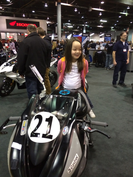I told her it was a girl race bike.. Look at that smile