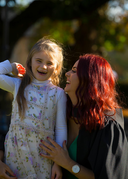01/11/2018. Waterford Institute of Technology (WIT) Conferring Ceremonies 2018. Pictured is Pictured is Aoife Colfer, Fethard on Sea with her niece Erin Kennedy Colfer. Picture: Patrick Browne