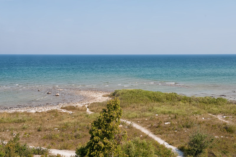 057 Michigan August 2013 - Grand Traverse Lighthouse Shore.jpg