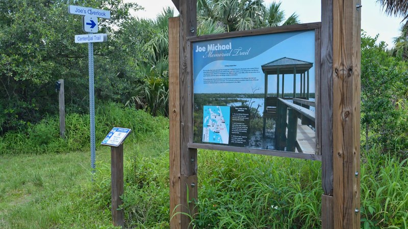 Joe Michael Memorial Trail kiosk