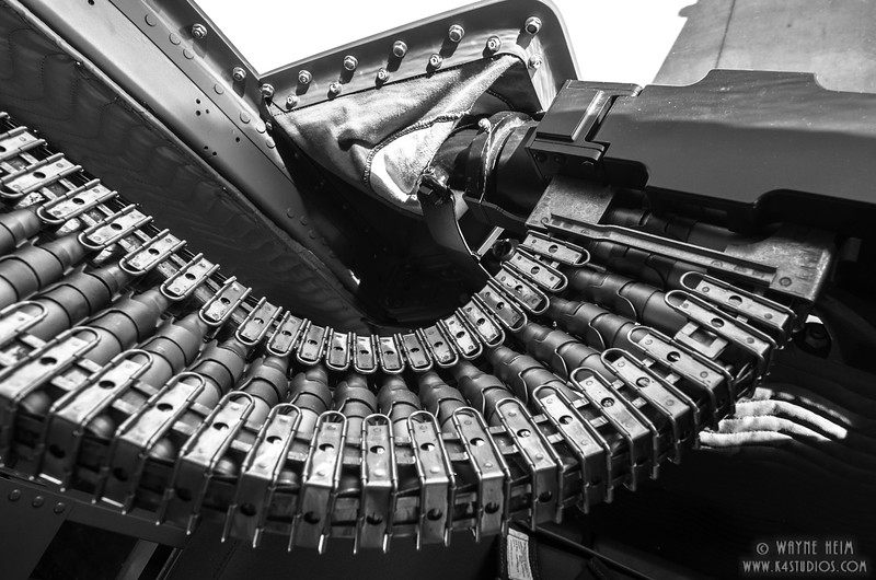Ammunition Belt   black and White Photography by Wayne Heim