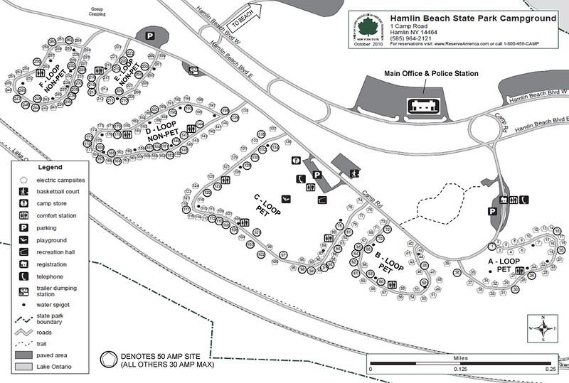Hamblin Beach State Park (Campground Map)