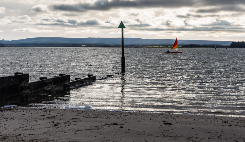 Dinghy sailing in Poole Harbour