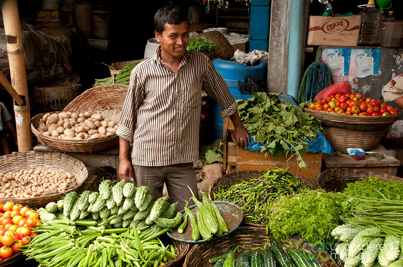 Vegetable Vendor at Srimongal Market - Bangladesh
