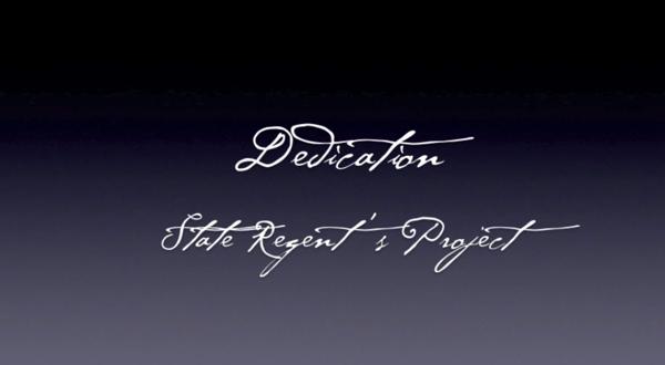 2015 State Regent's Project Dedication
