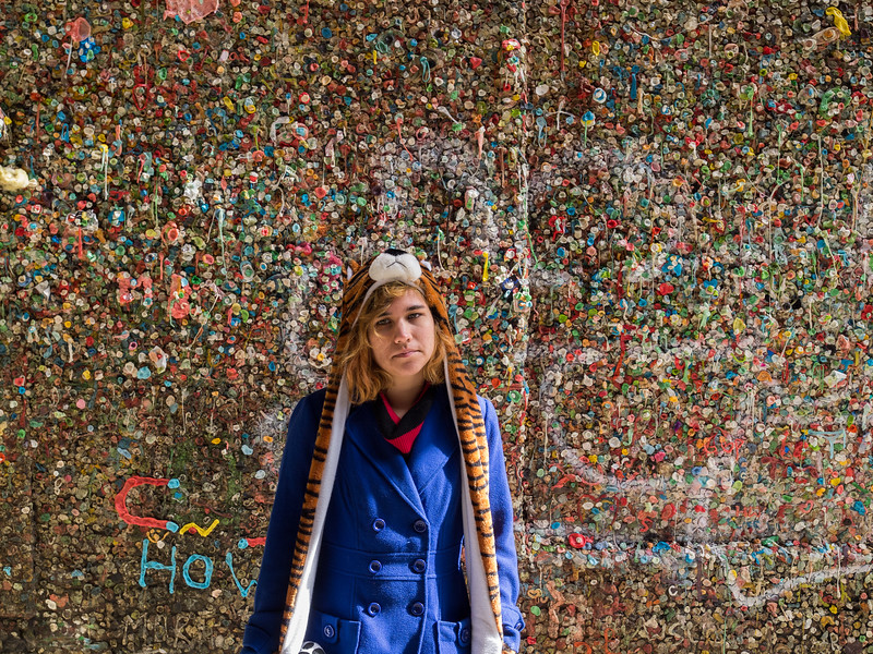 Seattle's Great Wall of Gum, with Elia.