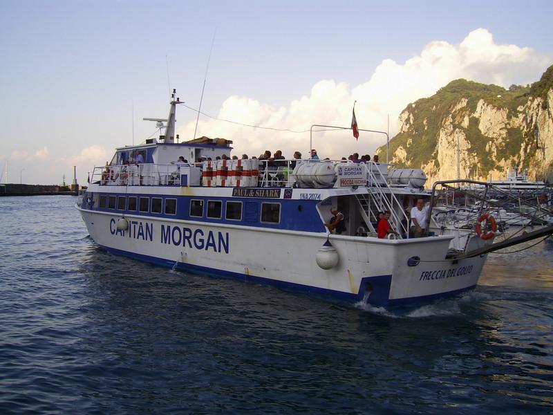 M/V FRECCIA DEL GOLFO departing from Capri to Procida - Ischia.