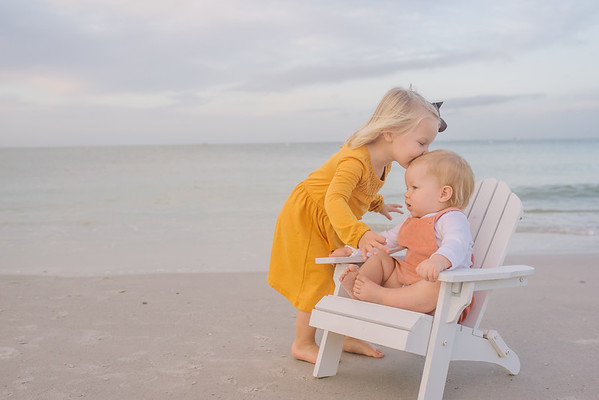 Sunrise in Treasure Island Florida Baby Kids Family Photos