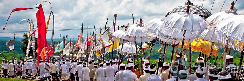 Melasti purification ritual (Jatiluwih, Bali)