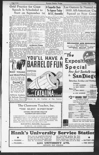 Summer Session Trojan, Vol. 14, No. 11, July 23, 1935