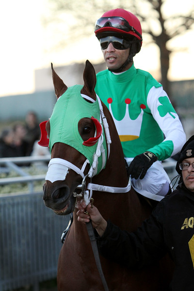 Mischevious Alex (Into Mischief) and jockey Kendrick Carmouche wins the Gotham (Gr III) at Aqueduct Racetrack 3/7/20. Trainer: John Servis. Owners: Cash is King Stable & LC Racing LLC