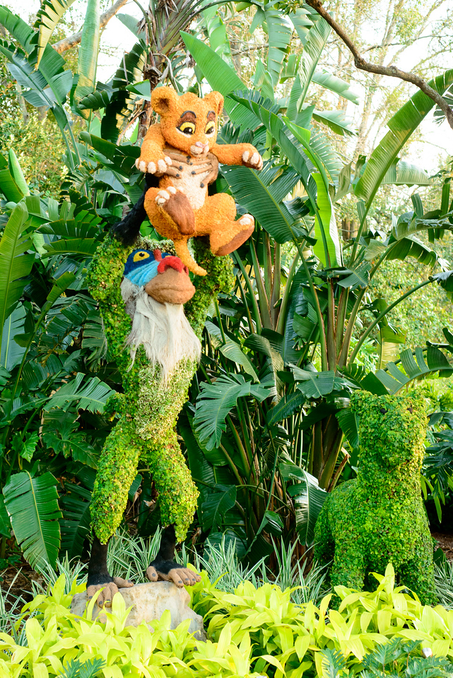 Rafiki and Simba Topiaries - Epcot Flower & Garden Festival 2016