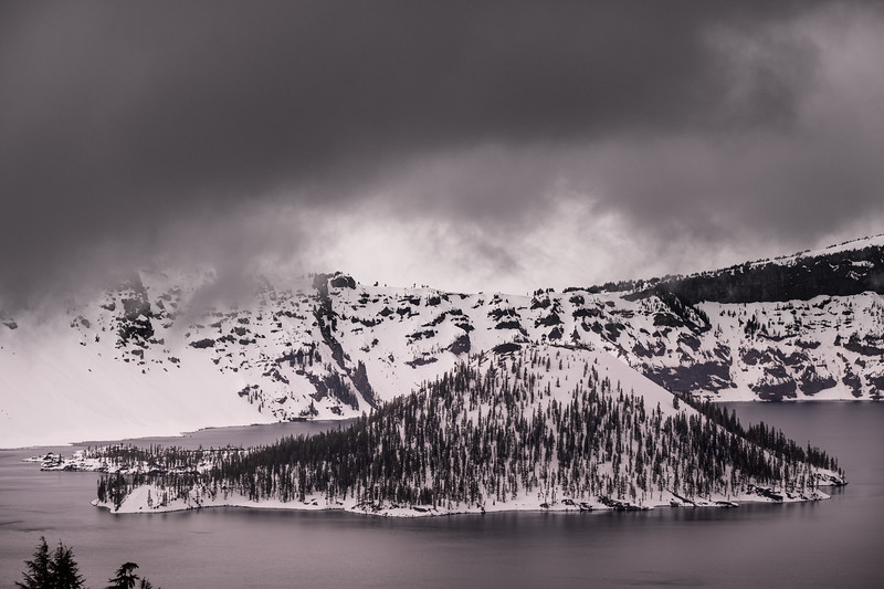Impending  Storm - Crater Lake
