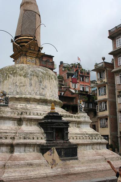 a random side street stupa.  kathmandu