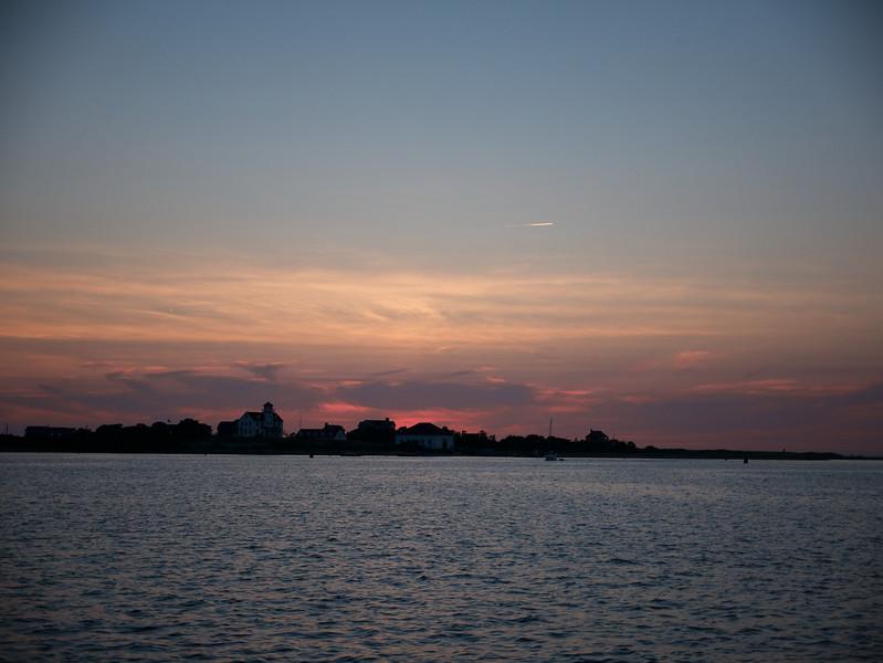 Sunset at entrance