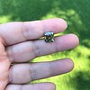 4.57ct Fancy Dark Greenish Yellow Brown Asscher Cut Diamond GIA 9