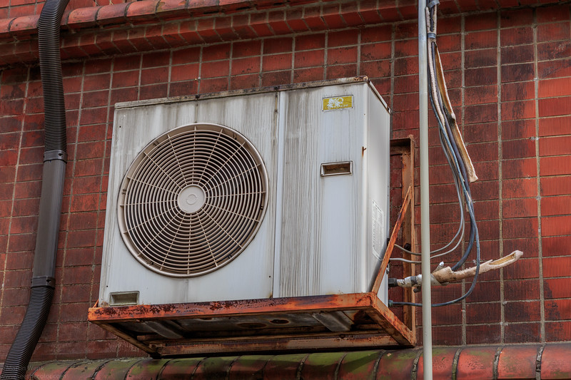 Air conditionning unit at the Tokyo University