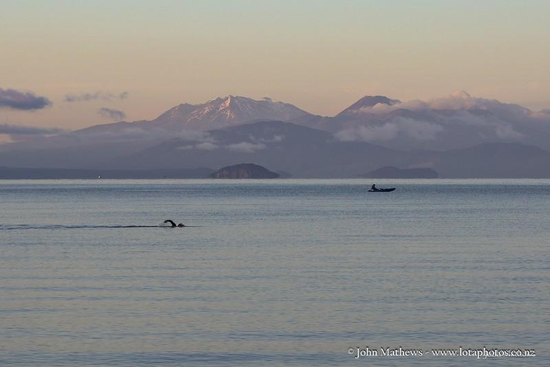 20160123 Fishing Lake Taupo with Mt Ruapehu & Ngarahoe on background _MG_7357 WM WM a