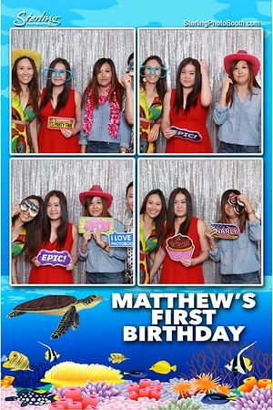 Matthew's 1st B-Day