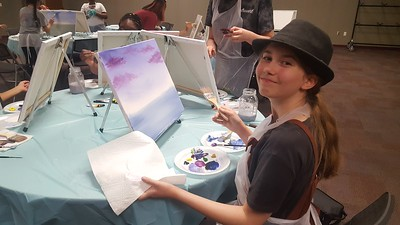 Paint and Pizza Party for Teens