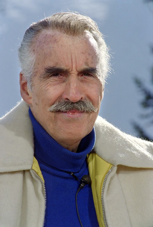 . An archive portrait taken January 19, 1993 shows British actor Sir Christopher Lee in Avoriaz.    (PASCAL GUYOT/AFP/Getty Images)