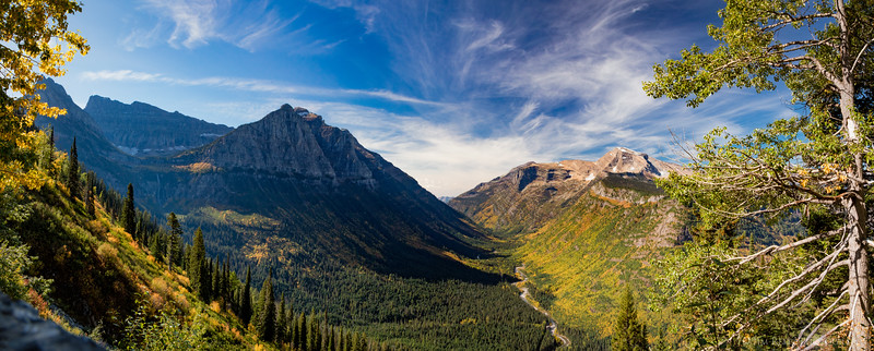 Panoramic overlook view from Going-to-the-Sun Road, Glacier National Park