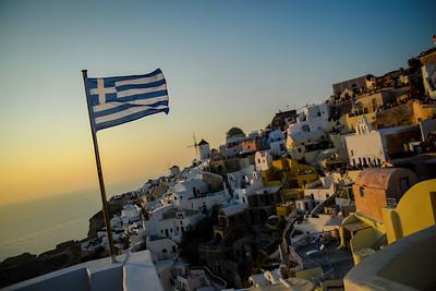 Santorini and Mikinos, Greece