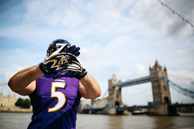 NFL Player Around London - Ravens
