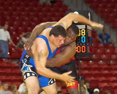Men's Greco Roman Championships 120 Kg: 1st Place Dremiel Byers (US Army) def Timothy Taylor (US Army)