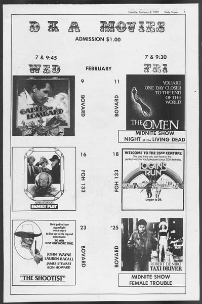 Daily Trojan, Vol. 71, No. 1, February 08, 1977