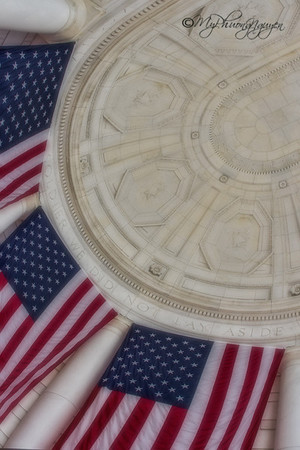 Flag in at the Arlington National Cemetery