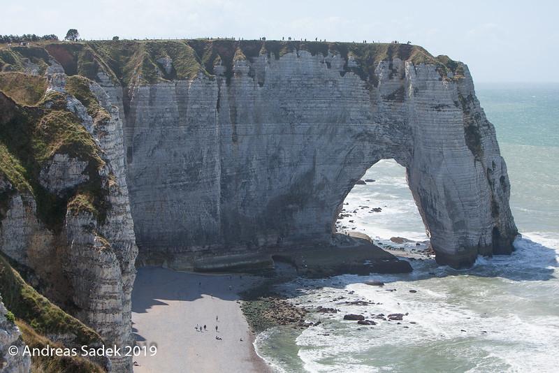 Die Alabasterküste bei Etretat, Normandie, Frankreich