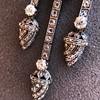 1.63ctw Victorian Triple Drop Diamond Necklace 18