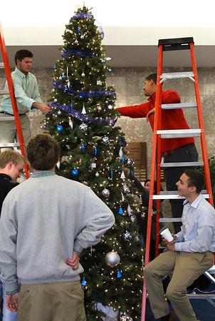 Lighting the tree in Brother Benjamin Hall - beautiful!