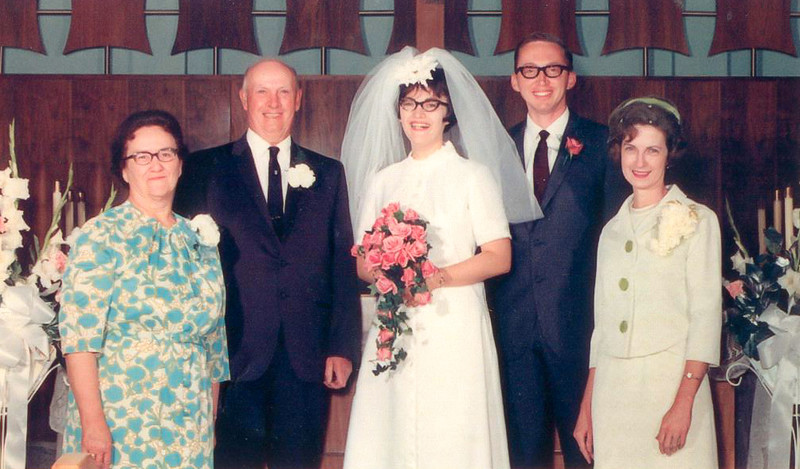 1969-05-31 My parents and grandparents at Mom and Dad's wedding.JPG