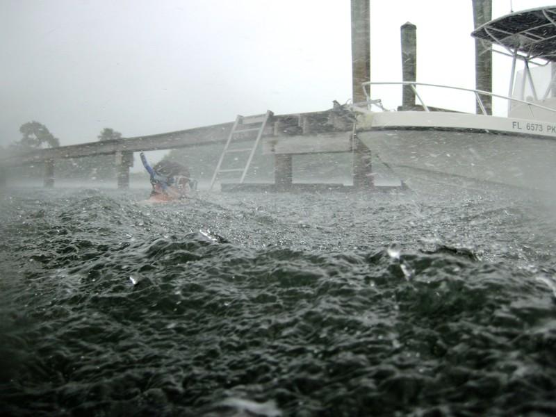 snorkeling in the rain