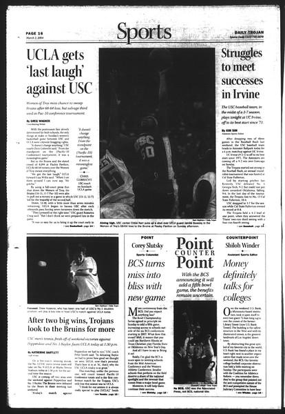 Daily Trojan, Vol. 151, No. 32, March 02, 2004