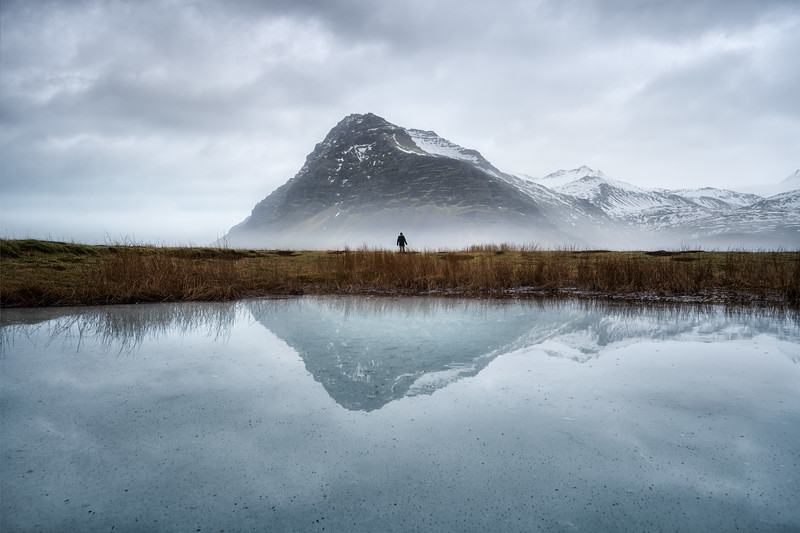 Fellsfjall reflection fog Mountain east iceland landscape photography.jpg