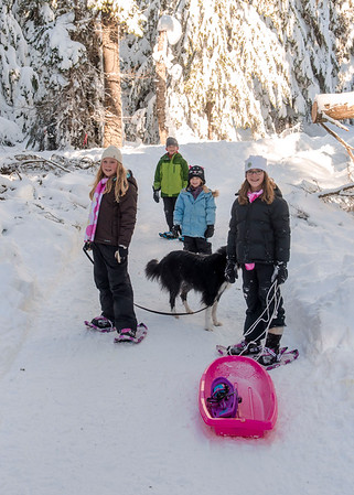 12-30-2015 Snowshoeing Gold Creek