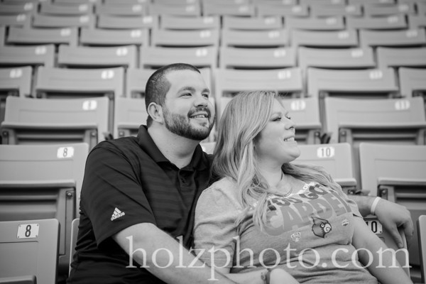 Jill & Chip B/W Engagement Photos
