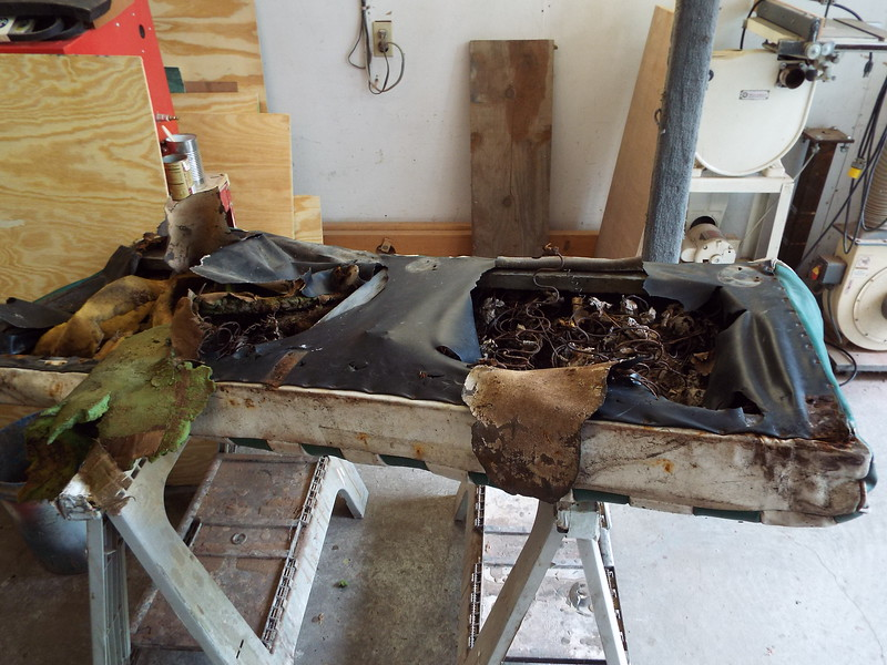 This what we have left of the old front seat bottom.