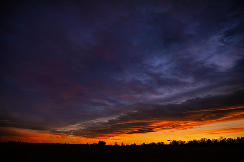 Sunset over Brunner