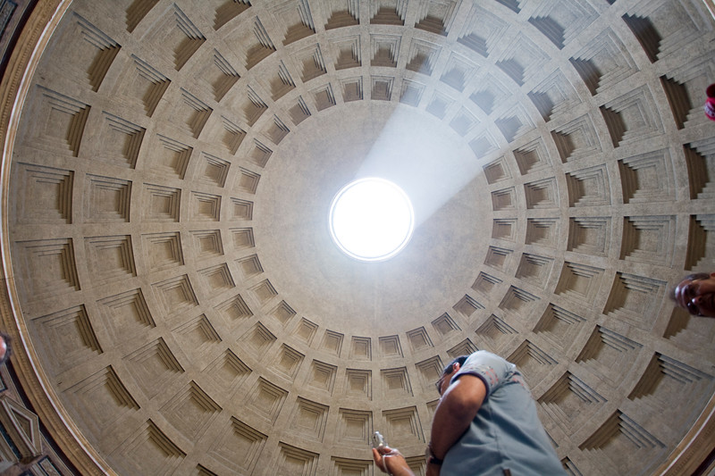 Perpendicular view of the Pantheon dome, Rome