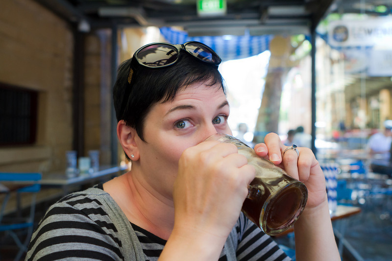 Sydney - dark lager and Coca-Cola