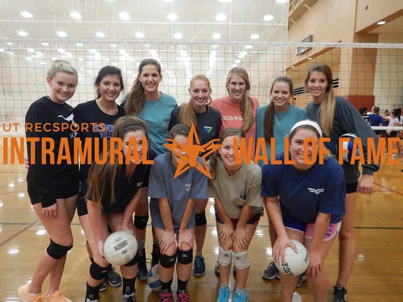 Fall 2015 Volleyball Women's A Champion Delta Gamma