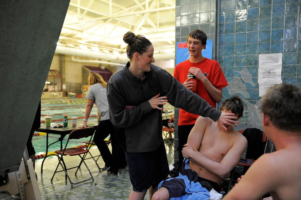 . Missy Franklin swims during her meet Sunday, February 26, 2012 at University of Denver. John Leyba, The Denver Post