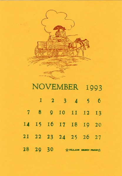 November, 1993, Village Green