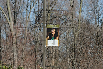 7520 Changing Lives Banners outside around campus 11-23-11
