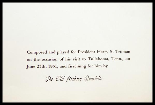 Song for President Truman