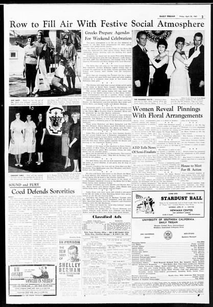 Daily Trojan, Vol. 52, No. 115, April 28, 1961